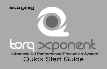 Quick Start Guide | Torq Xponent - M-Audio