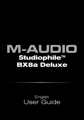 Studiophile BX8a Deluxe User Guide - M-Audio