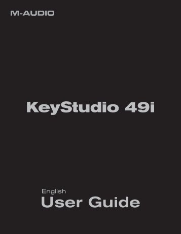 User Guide | KeyStudio 49i - M-Audio