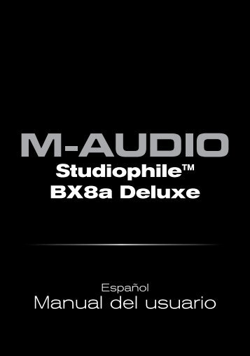Studiophile BX8a Deluxe | Manual del usuario - M-Audio