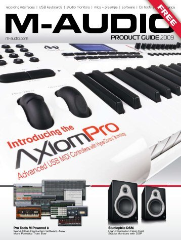 product guide - M-Audio