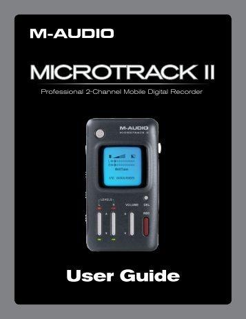 MicroTrack II User Guide - M-Audio