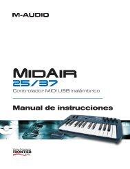 Manual de instrucciones de MidAir 25/37 - M-Audio