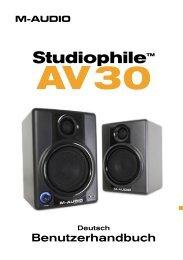 Studiophile AV 30 ユーザーガイド - M-Audio