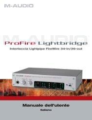Manuale dell'utente di ProFire Lightbridge - M-Audio