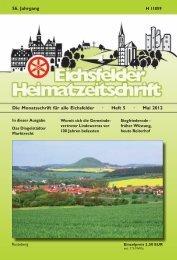 Die Monatsschrift für alle Eichsfelder · Heft 5 · Mai 2012 56. Jahrgang