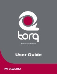 Torq User Guide - M-Audio