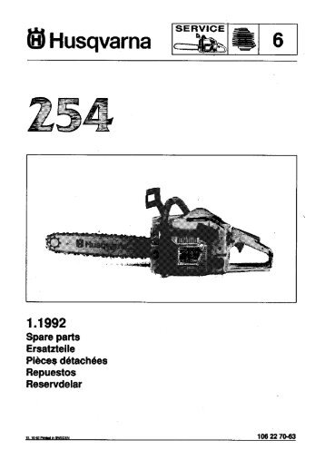 IPL, 254, 1992-10, Chain Saw - Husqvarna