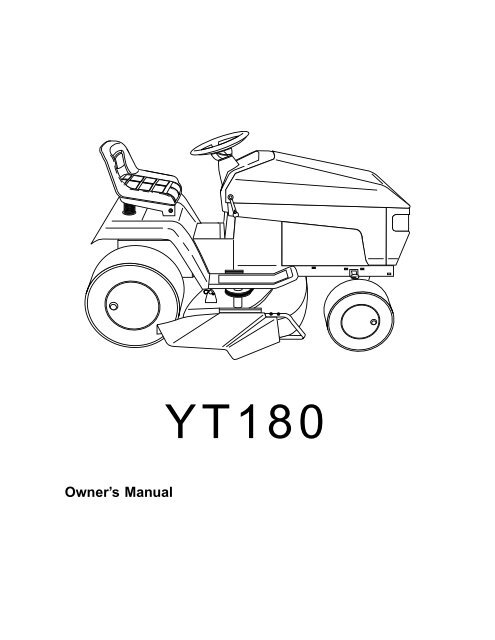 OM, YT 180, 954001082B,1994-12, Ride Mower - Husqvarna