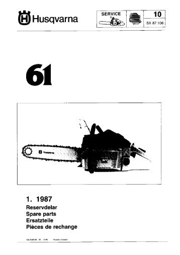 IPL, 61, 1986-12, Chain Saw - Husqvarna
