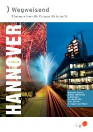 Flyer EXPO REAL 2011 - hannoverimpuls