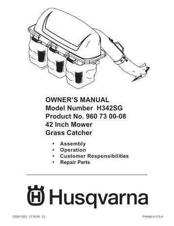 om, ipl, husqvarna, collection system, 966805002, 2012-07