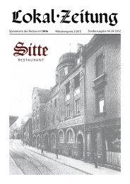 Speisekarte des Restaurant Sitte Sonderausgabe Nr. 24 2012 ...