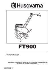 om, ft900, 2010-11, cultivators/tillers, 96083000501 - Husqvarna