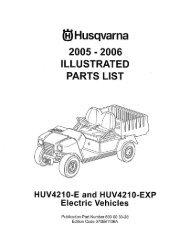 IPL, HUV 4210 E/ HUV 4210 EXP, 2006-11, Utility ... - Husqvarna