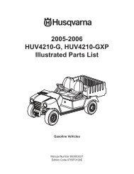 IPL, HUV 4210 G/ HUV 4210 GXP (Sections 7-13 ... - Husqvarna