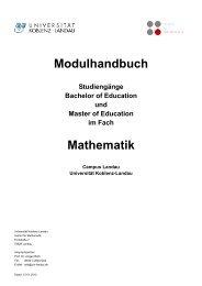 Modulhandbuch Mathematik, Campus Landau - Universität Koblenz ...