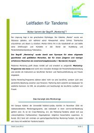 Leitfaden für s Mentoring-2012.pdf - Universität Koblenz · Landau