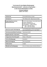 Modulhandbuch MA (Sport Gymnasium - Universität Koblenz · Landau