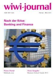 Nach der Krise: Banking and Finance - WiWi-Journal
