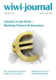 Lehre(n) in der Krise – Banking, Finance & Insurance - WiWi-Journal