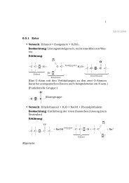 1 0.0.1 Ester • Versuch: Ethanol + Essigsäure + H2SO4 ...