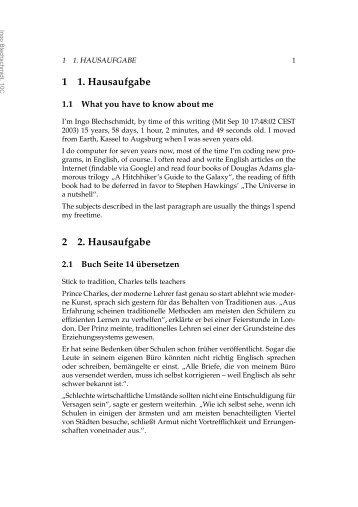 1 1. Hausaufgabe 2 2. Hausaufgabe - M19s28.dyndns.org
