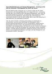 Gesundheitsförderung und Change Management – Training on the ...