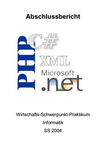 Projekt phpDataSet: Abschlussbericht (.pdf)