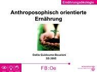 Anthroposophisch orientierte Ernährung