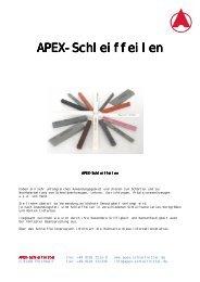 APEX-Schleiffeilen - APEX - Schleifmittel