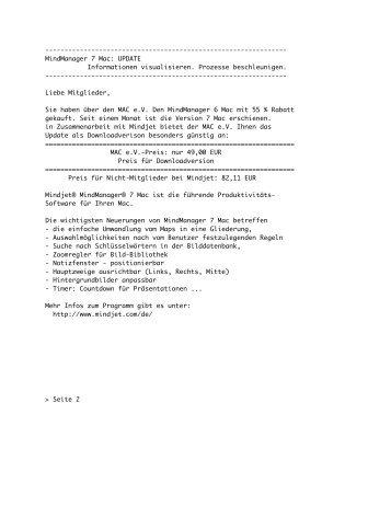 MindManager 7 Mac - Mensch am Computer e.V.