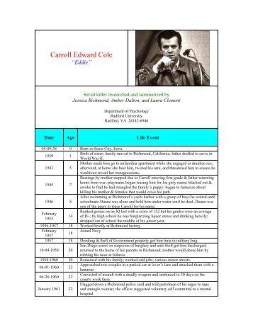 carroll edward cole