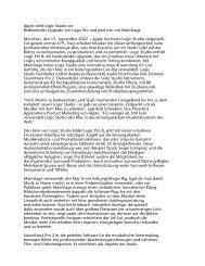 Apple stellt Logic Studio vor Bedeutendes Upgrade von ... - MAC e.V.