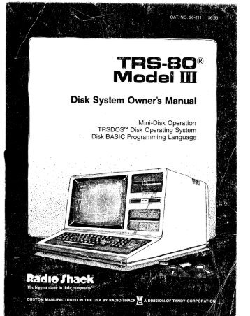 Tandy Model 3 Disk System Owners Manual.pdf - 400 Bad Request