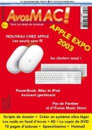AVM n°33 - octobre 2003 - Bibliothèque - Free