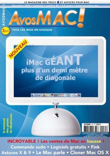AVM n° 35 - décembre 2003 - Bibliothèque - Free
