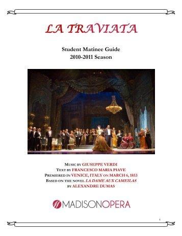 LA TRAVIATA - Madison Opera