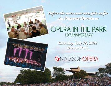 OPERA IN THE PARK - Madison Opera