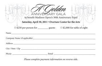 A Golden - Madison Opera