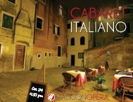 CABARET ITALIANO - Madison Opera