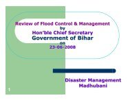 Review of Flood Control & Management-2008 - Madhubani