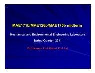 MAE171b/MAE126b/MAE175b midterm - MAE Class Websites