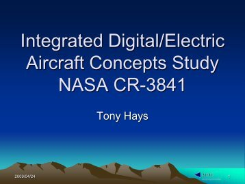 Integrated Digital/Electric Aircraft Concepts Study NASA CR-3841