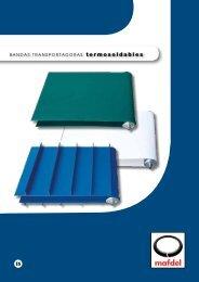 BANDAS TRANSPORTADORAS termosoldables - MAFDEL