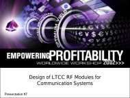 Design of LTCC RF Modules for Communication Systems