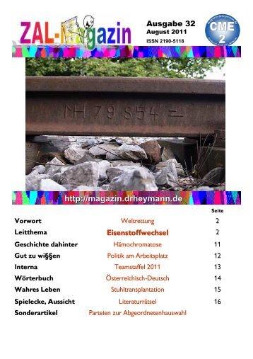 Magazin als pdf (interne Version mit Paßwortabfrage) - ZAL-Magazin