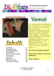 genetische Risikofaktoren - ZAL-Magazin