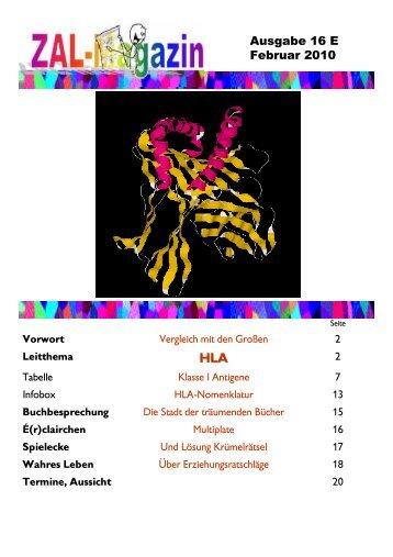 Ausgabe 16 E Februar 2010 - ZAL-Magazin