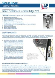 Solid Edge ST3_neue Funktionen.indd - ISAP Magazin